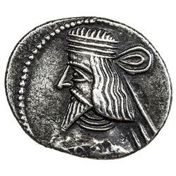 PARTHIAN KINGDOM: Artabanos II, AD 10-38, AR drachm (3.57g). VF