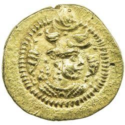 SASANIAN KINGDOM: Peroz, 457-484, AV dinar (3.70g), BBA (the Court mint), ND. EF
