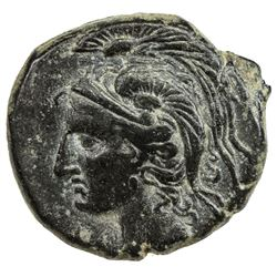 CARTHAGE: Anonymous, 3rd century BC, AE 20mm (6.33g). VF-EF