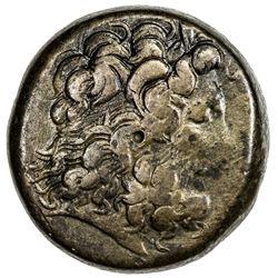 PTOLEMAIS: Ptolemy III Eurgetes, 246-221 BC, AE hemidrachm (48.49g). VF