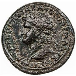 ROMAN EMPIRE: Nero, 54-68 AD, AE sestertius (25.13g). VF