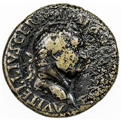 ROMAN EMPIRE: Vitellius, 69 AD, AE sestertius (24.80g). F-VF