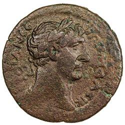ROMAN EMPIRE: ALEXANDRIA: Trajan, 98-117 AD, AE drachm (28.72g), year 12. F-VF
