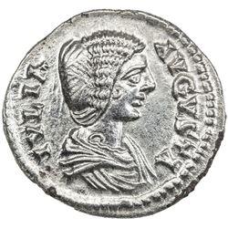 ROMAN EMPIRE: Julia Domna, wife of Septimius Severus, AR denarius (2.67g). EF-AU