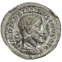 ROMAN EMPIRE: Maximinus I, 235-238, AR denarius (3.01g). NGC MS