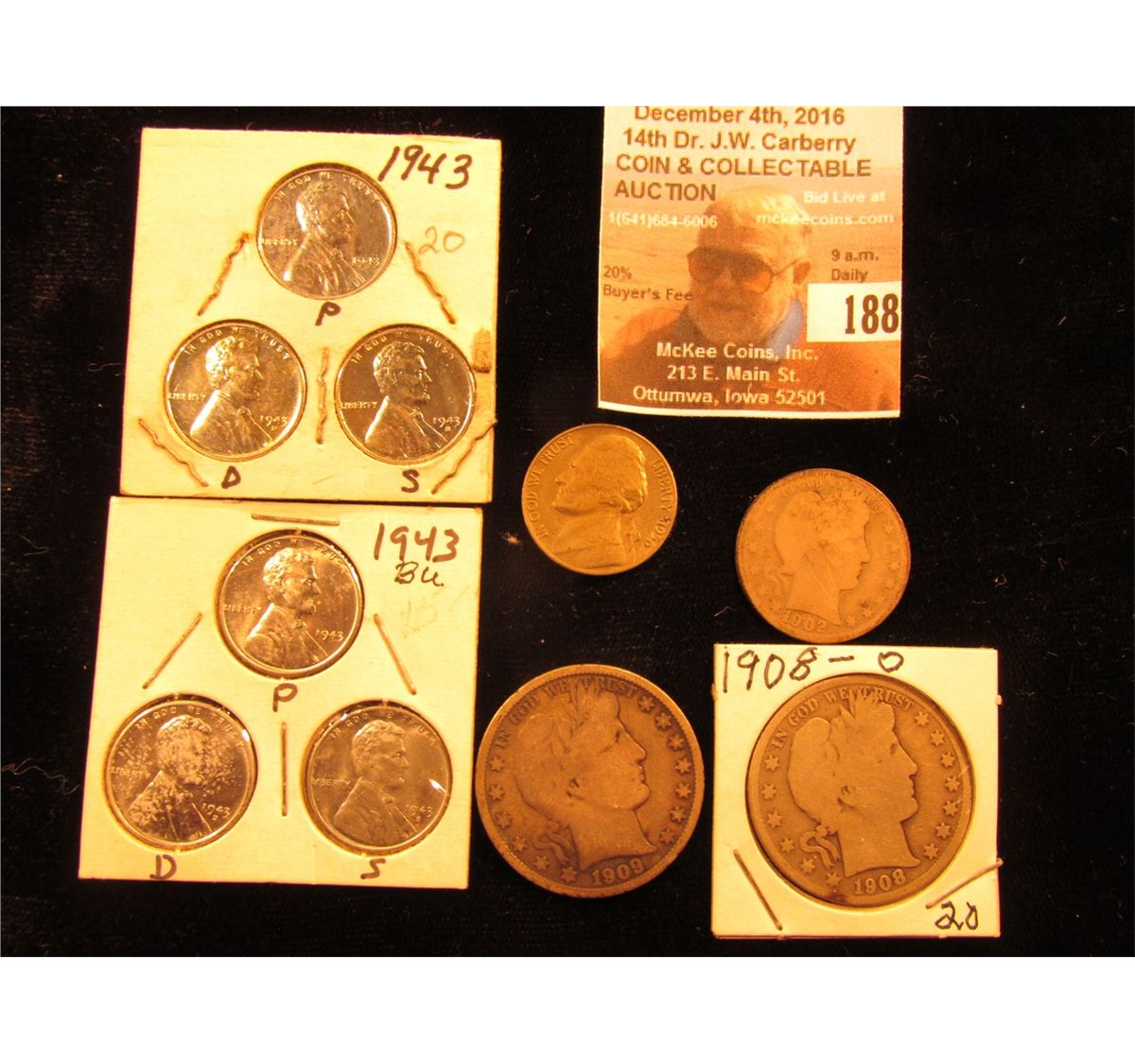 Nice GOOD VG FREE SHIPPING 2 Coin Lot 1956 P AND D Jefferson Nickel Set