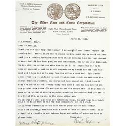 Correspondence between Tom Elder and M.A. Powills