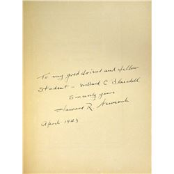Willard C. Blaisdell's Copy, Inscribed to Him by the Author