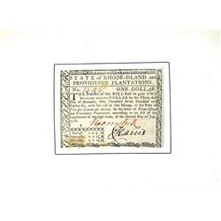 Potter & Rider on Rhode Island Paper Money