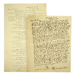 Two Handwritten Letters from Horatio Storer