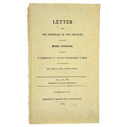 Folio Treasury Report on the U.S. Mint for 1809