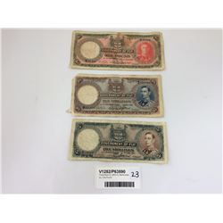 Three Rare Fiji 1950-51 Banknotes Inc. One Pound