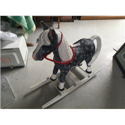Vintage Paper Mache Rocking Horse