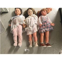 Group of Large Vintage Dolls