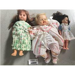 Group of Three English Made Dolls