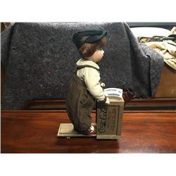Franklin Heirloom Coca Cola Boy with Cart