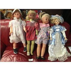 Group of Four Large Vintage Dolls