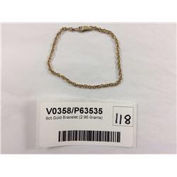 9ct Gold Bracelet (2.95 Grams)