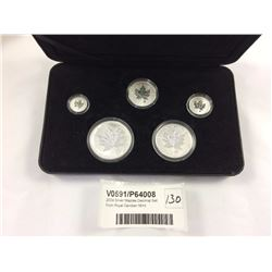 2004 Silver Maples Decimal Set From Royal Candian Mint
