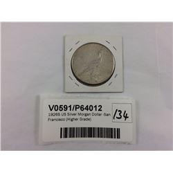 1926S US Silver Morgan Dollar -San Francisco (Higher Grade)