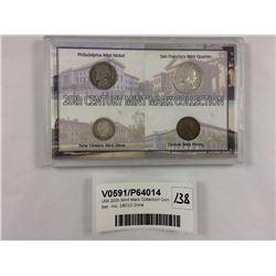 USA 20th Mint Mark Collection Coin Set - Inc. 1901O Dime