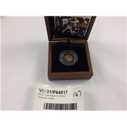 2012 Great Britain 1/4 Gold Sovereign in Box