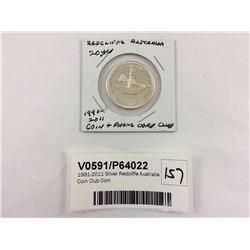 1991-2011 SIlver Redcliffe Australia Coin Club Coin