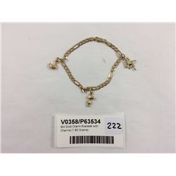 9ct Gold Charm Bracelet with Charms (7.80 Grams)