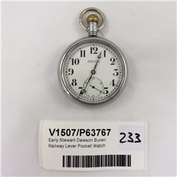 Early Stewart Dawson Buren Railway Lever Pocket Watch