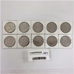 Group of Ten USA One Dollar Coins