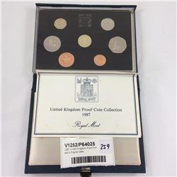 1987 United Kingdom Proof Coin Set In Original Case