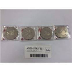 Set of Four 1989 NZ Commonwealth Games Coins