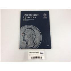 Whitman Folder of Washington Quarters 1988+ Inc. Coins.