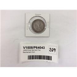 1936 Silver German Five Reichsmark Coin