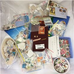 Large Group of Stamps Inc. Albums