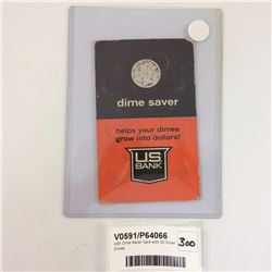 USA Dime Saver Card with 30 Silver Dimes