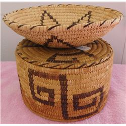 Pair of Papago Baskets