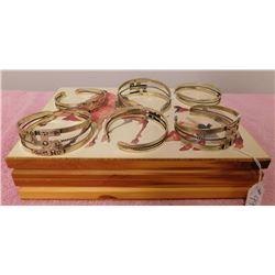 Box w/6 Fred Harvey-style Bracelets
