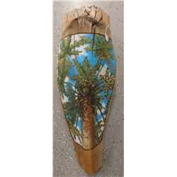 Original Painted Palm Branch