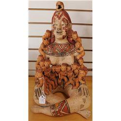 Pre-Columbian-style Storyteller Doll