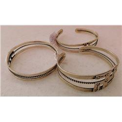 3 Fred Harvey-style Silver Bracelets