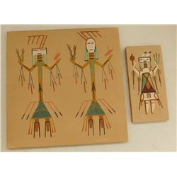 2 Navajo Sand Paintings