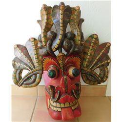 Large Ceylon Wood Mask