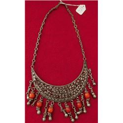 Indian Silver & Bead Necklace