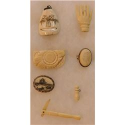 7 Pieces of Alaskan Antique Jewelry
