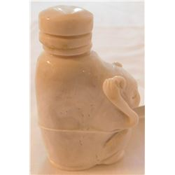 White Bamboo Coral Effigy Snuff Bottle