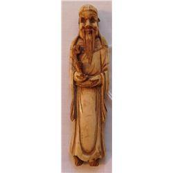 Chinese Bone Carving of Man