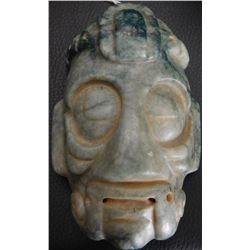 Mayan Jade Mask w/Helm COA