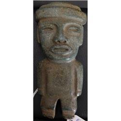 Teotihuacan Stone Figure w/Helm COA