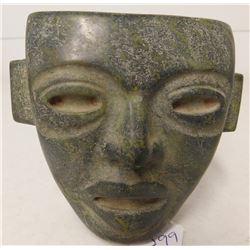 Fine Teotihuacan Stone Mask w/Helm COA